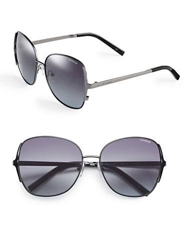 Polaroid 59mm Polarized Square Sunglasses-DARK RUTHENIUM-One Size