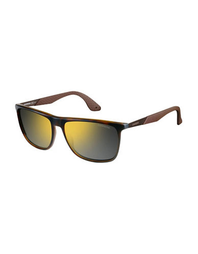 Carrera Sporty Rectangular Sunglasses-HAVANA BROWN-One Size