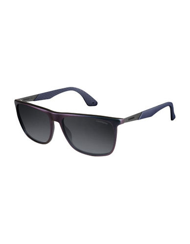 Carrera Sporty Rectangular Sunglasses-MAUVE/BLUE-One Size