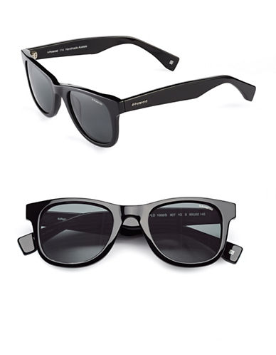 Polaroid 50mm Polarized Wayfarer Sunglasses-BLACK-One Size