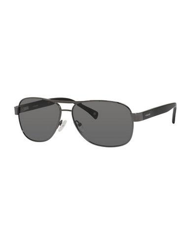Polaroid Polarized Navigator Sunglasses-DARK GREY-One Size