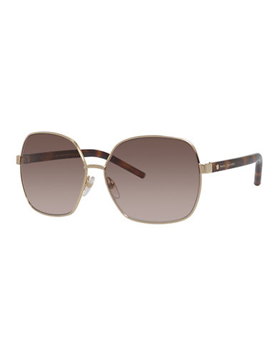 Marc Jacobs Palladium 60mm Aviator Sunglasses-GOLD-One Size