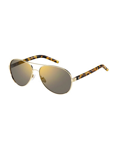 Marc Jacobs Goldtone 60mm Aviators-GOLD-One Size
