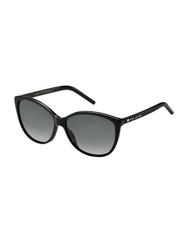 Marc Jacobs Monochrome 58mm Cat-Eye Sunglasses-BLACK-One Size