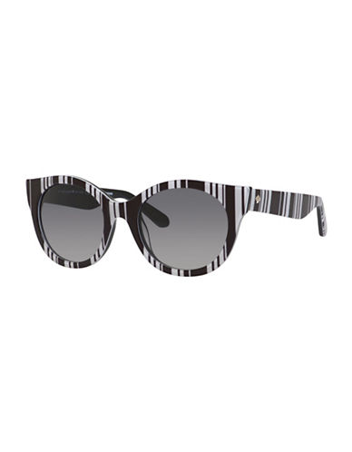 Kate Spade New York Melly Cat-Eye Sunglasses-BLACK/WHITE-One Size