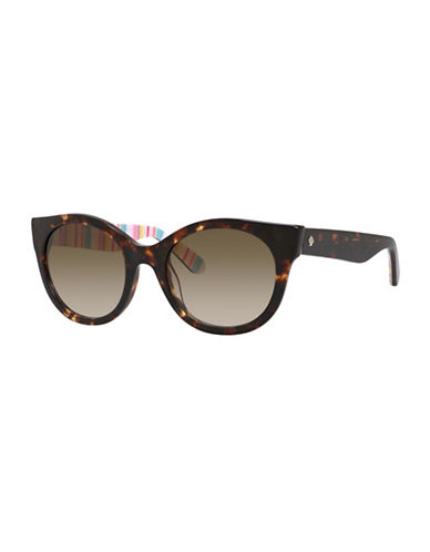 Kate Spade New York Melly Cat-Eye Sunglasses-HAVANA-One Size