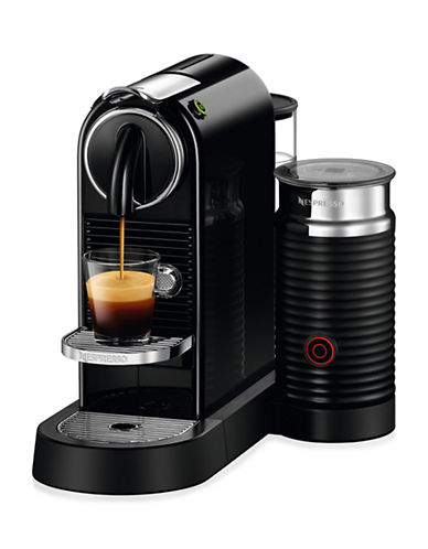 Nespresso D122-US-BKNE Coffeemaker with Aeroccino-BLACK-One Size 88630357_BLACK_One Size