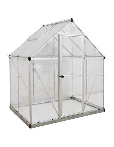 Palram Hybrid 6 Ft. x 4 Ft. Greenhouse-SILVER-One Size
