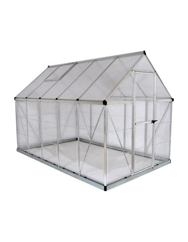 Palram Hybrid 6 Ft. x 10 Ft. Greenhouse-SILVER-One Size
