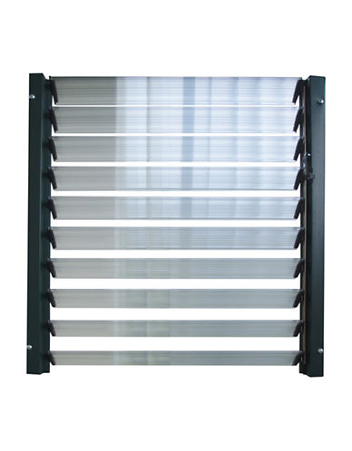 Rion Side Louver Window Kit-GREY-One Size