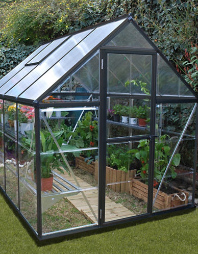 Palram Hybrid 6 Ft. x 8 Ft. Greenhouse-BLACK-One Size