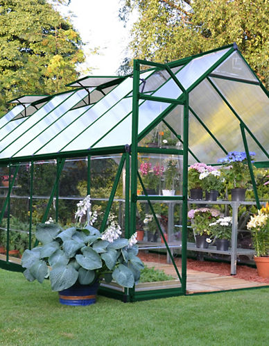 Palram Balance Hybrid 8 Ft. x 16 Ft. Greenhouse-GREEN-One Size