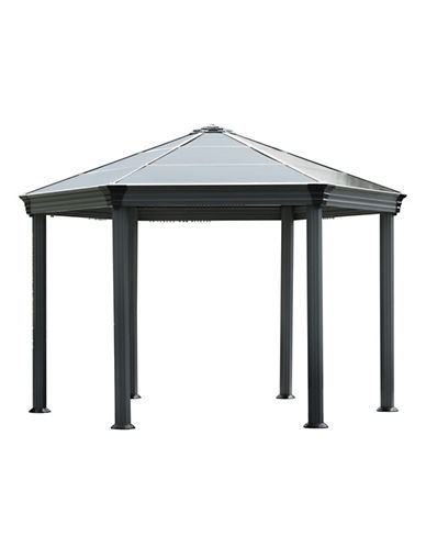 Palram Roma Hex Garden Gazebo-GREY-One Size