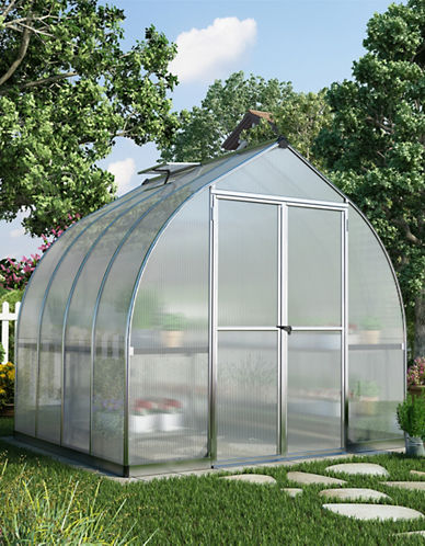 Palram Bella Greenhouse 8ft x 8ft-GREY-One Size