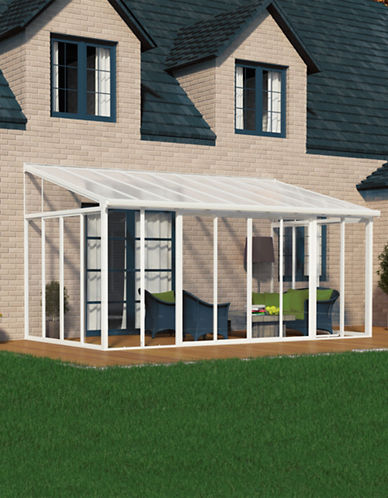 Palram San Remo Patio Enclosure 10 ft x 18 ft-WHITE-One Size