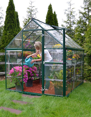 Palram Harmony 6 ft. x 8 ft. Greenhouse-GREEN-One Size
