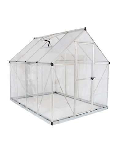 Palram Hybrid 6 ft. x 8 ft. Greenhouse-SILVER-One Size