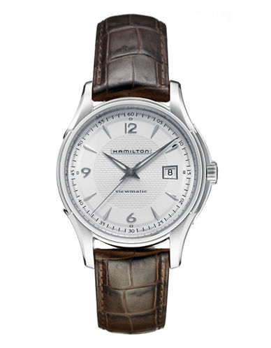 Hamilton Mens Jazzmaster Viewmatic Auto Watch-BROWN-One Size