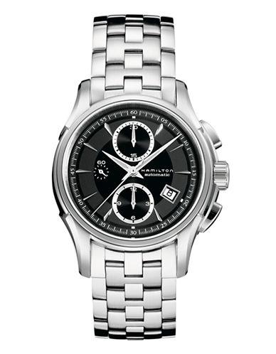 Hamilton Mens Jazzmaster Auto Chrono Stainless Steel Watch-SILVER-One Size
