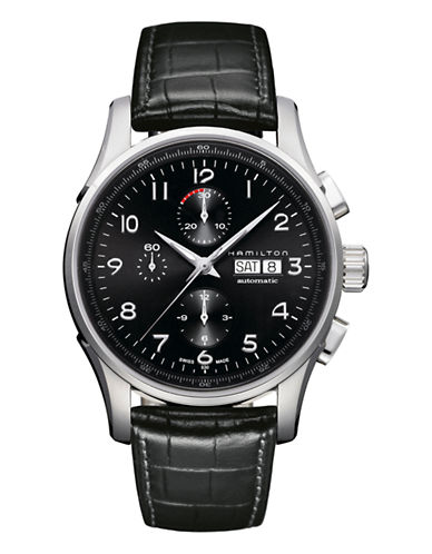 Hamilton Mens Jazzmaster Maestro Auto Chrono Watch-BLACK-One Size