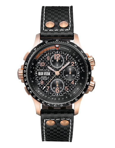 Hamilton Mens Khaki X Wind Auto Chrono Watch-BLACK-One Size