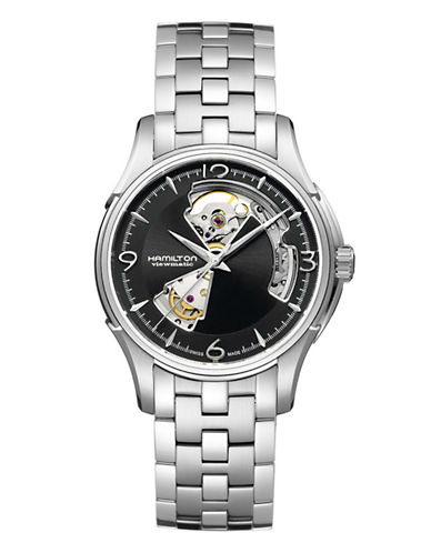 Hamilton Mens Jazzmaster Open Heart Auto Watch-SILVER-One Size