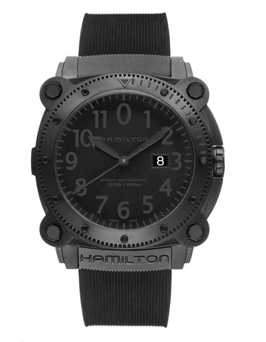 Hamilton Khaki Below Zero Watch-BLACK-One Size