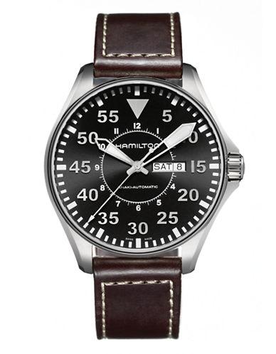 Hamilton Mens Khaki Pilot Auto Watch-BROWN-One Size