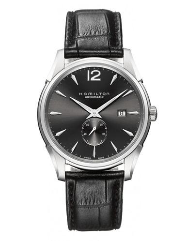 Hamilton Mens Jazzmaster Slim Petite Seconde Auto Watch-BLACK-One Size