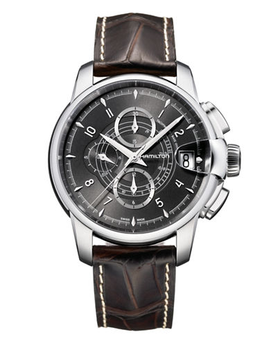 Hamilton Mens Railroad Auto Chrono Watch-BROWN-One Size