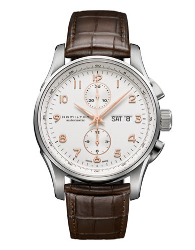 Hamilton Mens Jazzmaster Maestro Auto Chrono Watch-BROWN-One Size