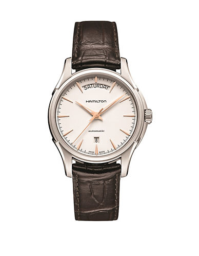 Hamilton Womens and Mens Jazzmaster Day Date Auto H32505511-BROWN-One Size