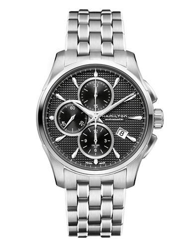 Hamilton Mens Jazzmaster Auto Chrono H21 Watch-SILVER-One Size