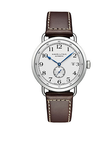 Hamilton Mens and Womens Khaki Pioneer Auto Watch-BROWN-One Size