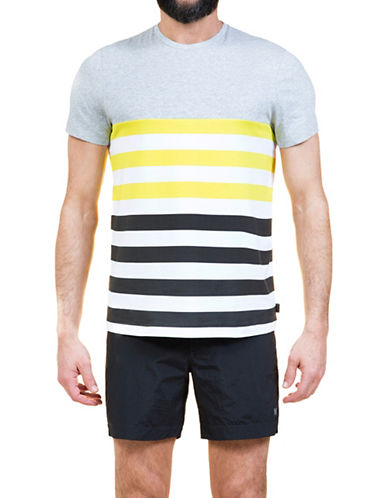 Dan Ward Deck Chair Stripes T-Shirt-LIME-Small