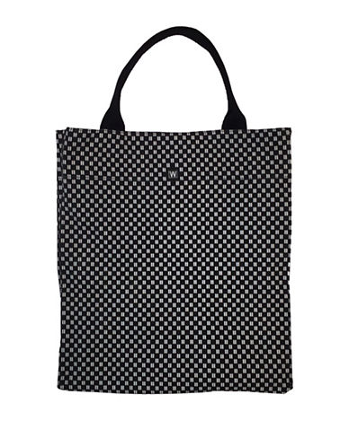 Dan Ward Banded Beach Tote-BLACK/WHITE-One Size
