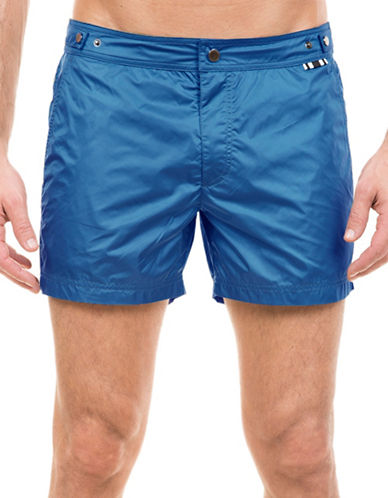 Dan Ward Techno Nylon Mid-Length Swim Shorts-NAVY-X-Large