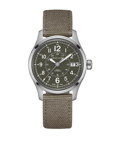Hamilton Analog Khaki Field Watch-GREEN-One Size