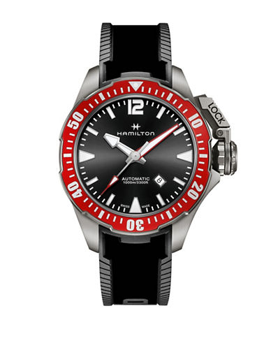 Hamilton Automatic Khaki Navy Frogman Rubber Watch-RED-One Size