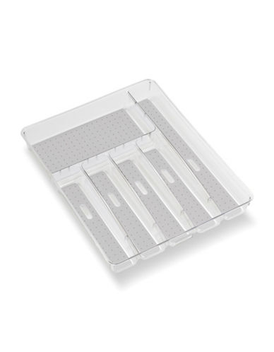 Madesmart Clear Large Silverware Tray-GREY-Medium 88084647_GREY_Medium