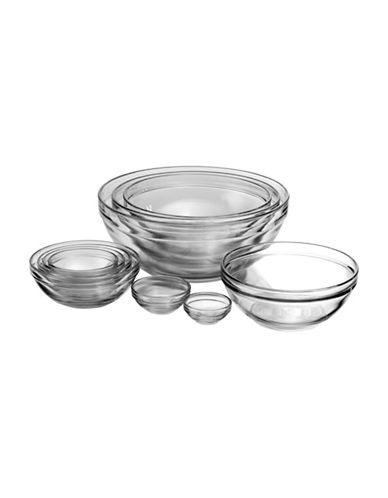 Anchor Hocking 10-Piece Nested Mixing Bowl Set-CLEAR-One Size