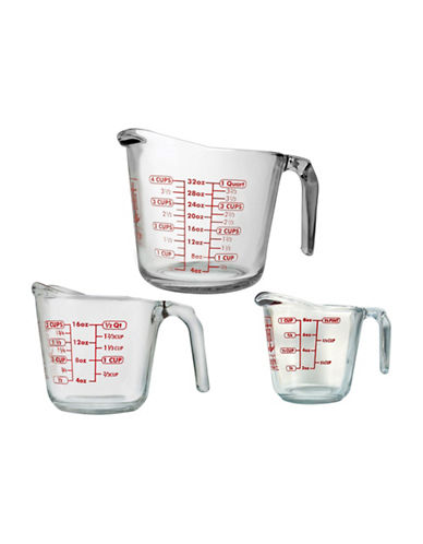 Anchor Hocking Three-Piece Measuring Cup Set-CLEAR-3pc 65651994_CLEAR_3pc
