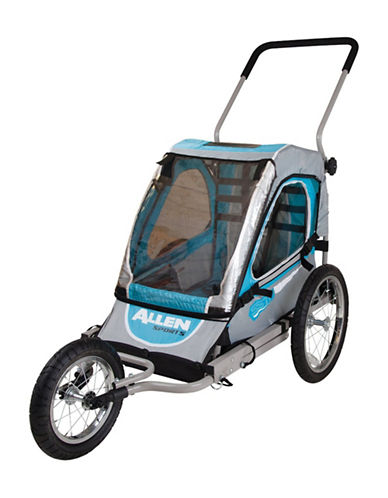 Allen Sports Steel One-Child Bike Trailer and Jogger-BLUE-One Size