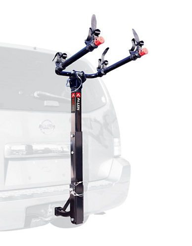 Allen Sports Deluxe Two Bike Hitch Mount Bike Rack-BLACK-One Size