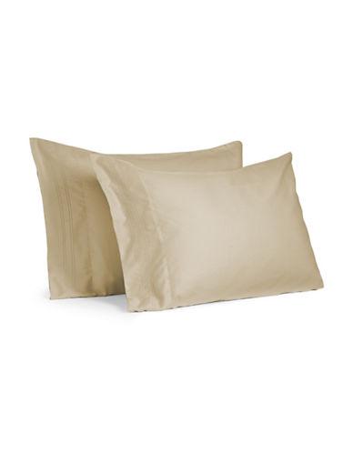 Tommy Hilfiger Brighton 300 Thread-Count Pillowcases-SAFARI-Standard