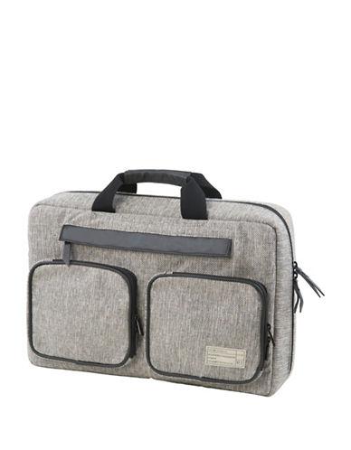 Hex Slim Convertible Briefcase-GREY-One Size