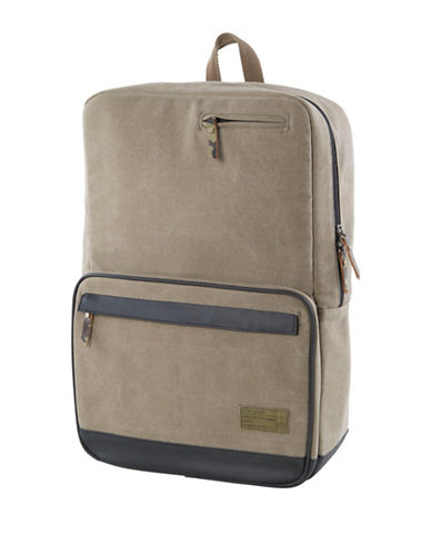 Hex Origin Canvas Backpack-KHAKI-One Size