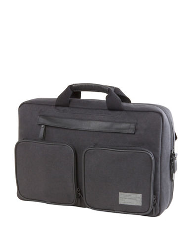 Hex Slim Convertible Briefcase-CHARCOAL-One Size