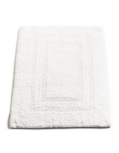 Hotel Collection Reversible Bathmat 18x25-WHITE-18x25