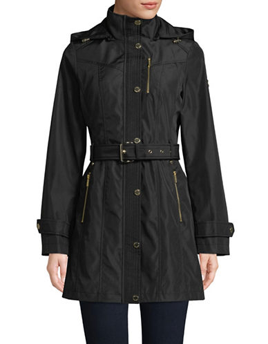 Michael Michael Kors Belted Soft Shell Jacket-BLACK-Medium 89883727_BLACK_Medium